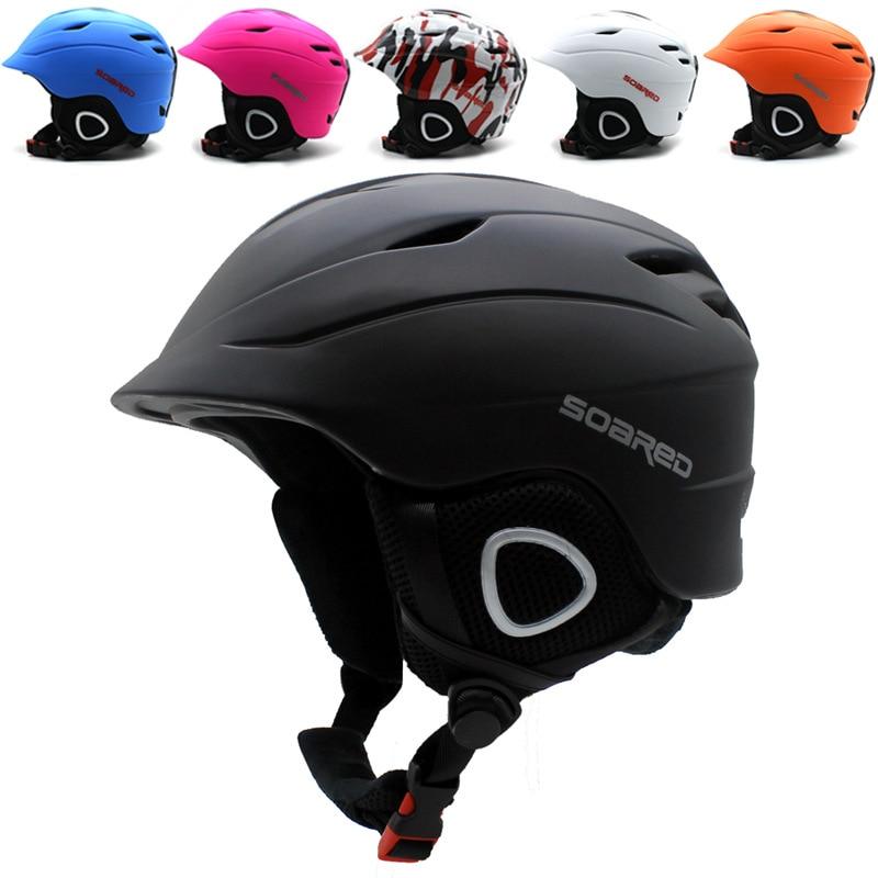 Casque de Ski SOARED casque de Ski entièrement moulé protection de sécurité pour adultes hommes femmes casques de planche à roulettes de Snowboard ultralégers thermiques
