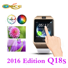 Bluetooth smart watch Q18s 1.54 Inch HD Touch Screen Support NFC SIM GSM TF Card clock Video Camera wear devices PK DZ09 GT08 U8