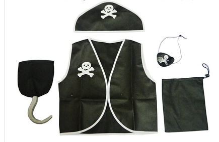 Best Selling Party Supplies Pirate Capain Jack Cosplay Boy Clothing Halloween Costume For Kids Children Christmas Costume