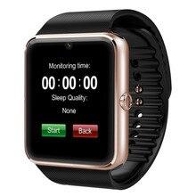 Gt08บลูทูธsmart watchด้วยกล้องซิมการ์ดสล็อตและสมาร์ทสุขภาพดูกล้องสำหรับandroid samsung htcและios apple iphone