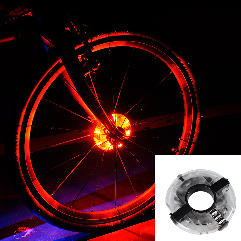 Leadbike 2016 New Arrival 3 Modes Waterproof 8 LED Bicycle Wheel Light With Battery Bike Flashlight Mountain Cycling Accessories Honda Grom