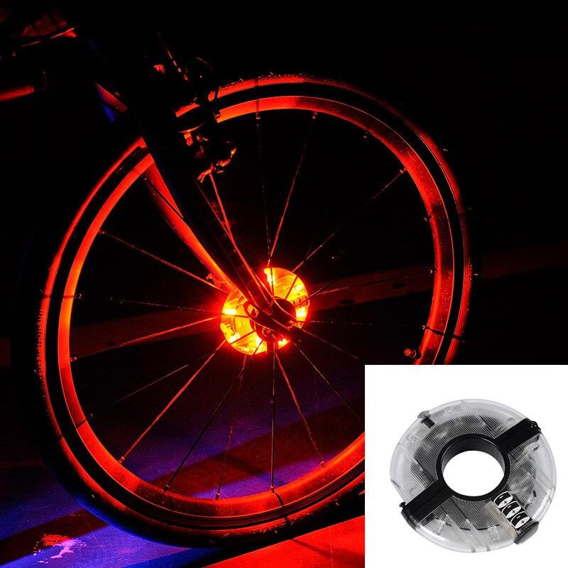Leadbike 2016 Nuevo Bicicletas Ciclismo cubos luz bicicleta frontal/luz trasera LED rueda luz de advertencia impermeable bicicleta Accesorios