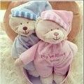 Russo E Inglês Estilo bonito Do Urso Do Bebê Brinquedos 0-12 Meses Crianças Developmental Toy Presente Engraçado Cama Macia Dos Desenhos Animados Chocalho do bebê
