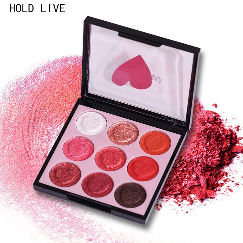 HOLD LIVE Eye shadow Palette 9 Colors Glitter Matte Shimmer Long Lasting Eyeshadow Pallete Natural Pigment Eyed Make up