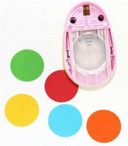 Image 5 - 3PCS (5 cm, 3.8 centimetri, 2.5 centimetri) forma rotonda craft punch set per bambini FAI DA TE manuale punzonatrici cortador de papel de scrapbook Cerchio pugno