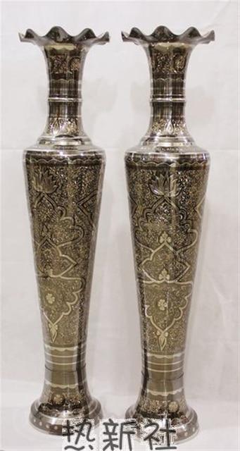 Pakistan Pakistan Arts And Crafts Import Bronze Vase Bronze 1m Gold