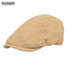 SILOQIN Unisex Thin Section Light Board Cotton Berets For Men And Women Adjustable Head Size Simple Fashion Brand Caps Dads Hat