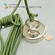 160 kg Ziehen Montage Magnet Dia 75mm Magnettöpfe mit Ring und Seil Starke Hebe Magnet Neodym Permanent Angeln Magnet
