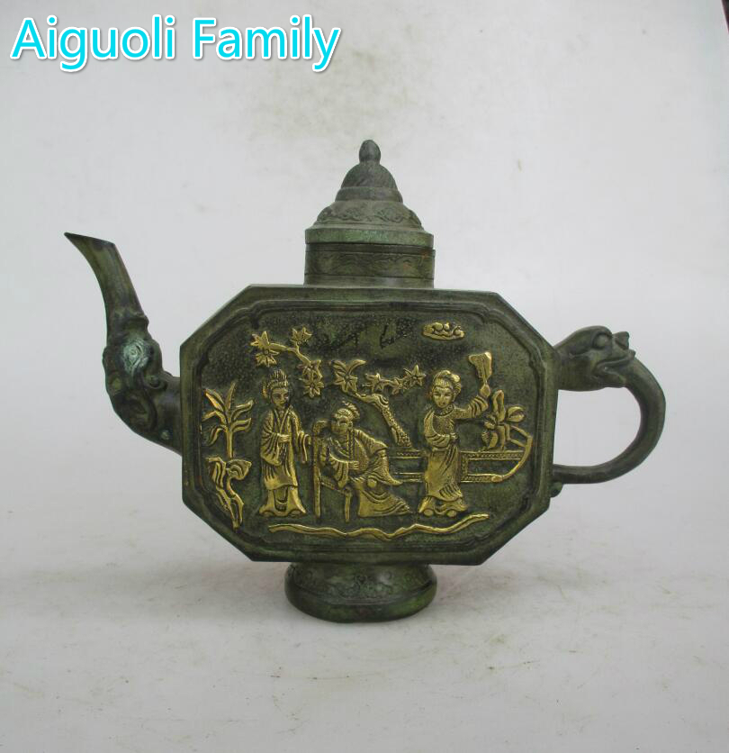AAA+Rare Chinese Old Bronze Carved 3 women  Tea Pot /Art Pot Craft For Home Decoration Antique CollectionAAA+Rare Chinese Old Bronze Carved 3 women  Tea Pot /Art Pot Craft For Home Decoration Antique Collection
