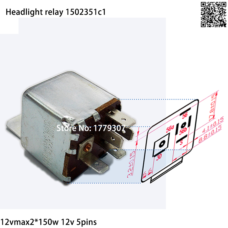 5pins 12v Relay Low Beam Car Headlight Relay Case In Audi Vw