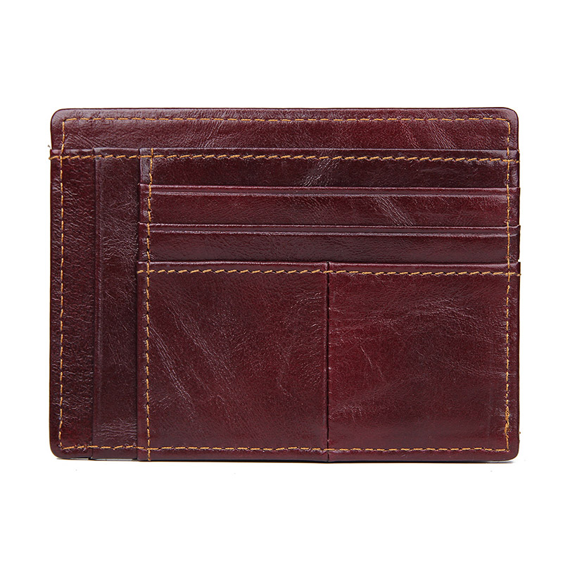 J M D Genuine Leather Card Case Slim Credit ID Card Holder Men 39 s Small Money Purse Mini Business Bank Card Purse R 8447 in Card amp ID Holders from Luggage amp Bags