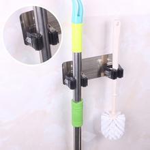 Двойная настенная стойка, держатель для швабры, держатель для домашнего пространства, щетка для метлы, ручка для швабры, крючок, вешалка, органайзер, настенное крепление 312