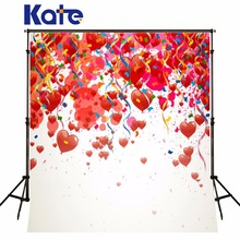 Children Birthday Party Background Photo Studio Valentine'S Day Backdrops Many Many Heart Many Colored Ribbon For Baby