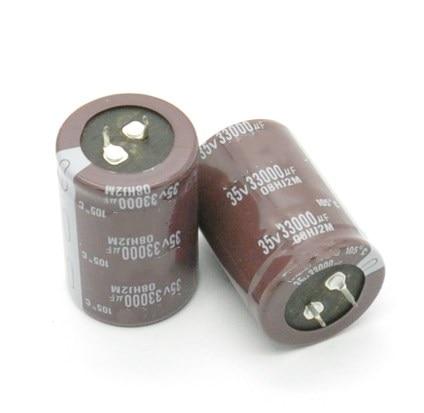 35V 33000uf Electrolytic Capacitor Radial 33000UF 35V 35x60mm 10pcs Free shipping
