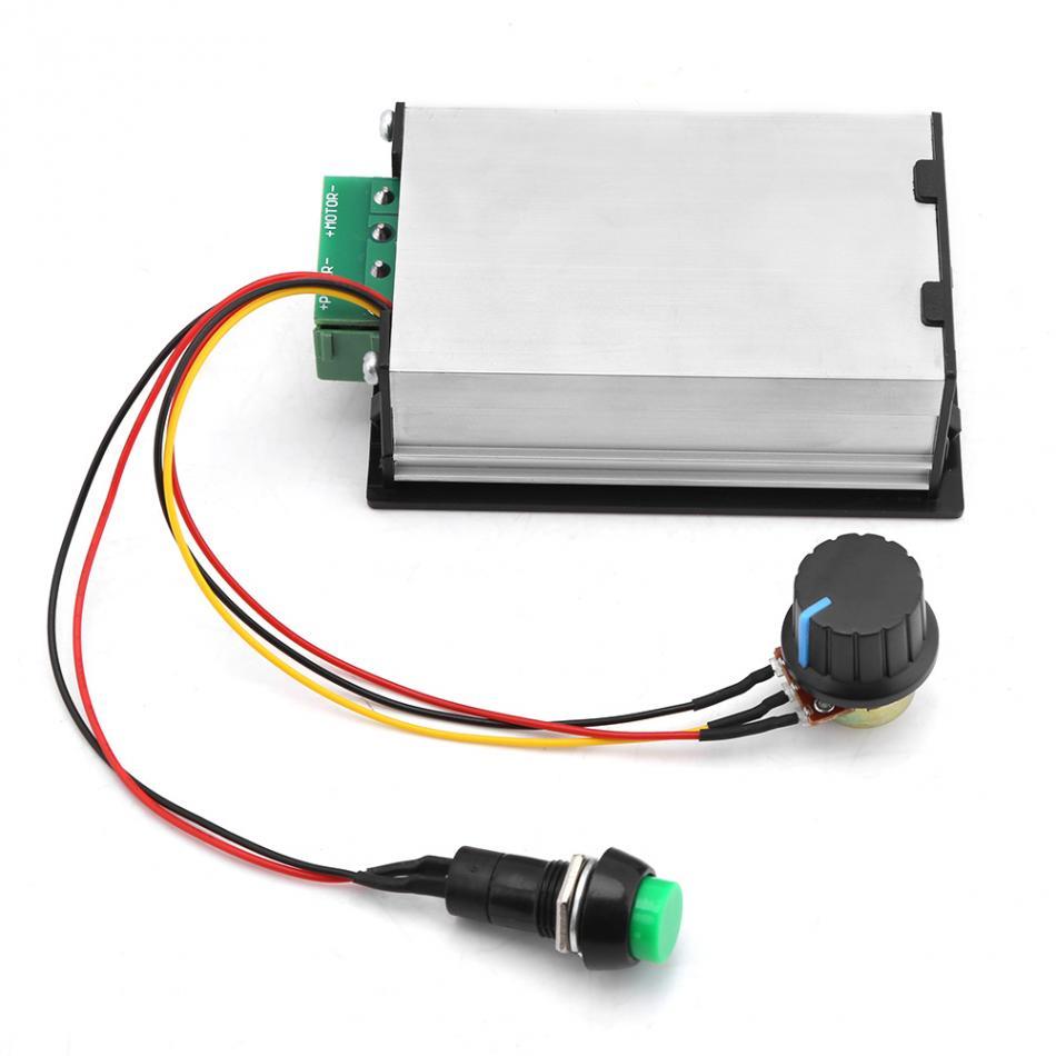 DC Motor Controller DC 6-60V 12V 24V 36V 48V 30A PWM DC Motor Speed Controller Start Stop Switch