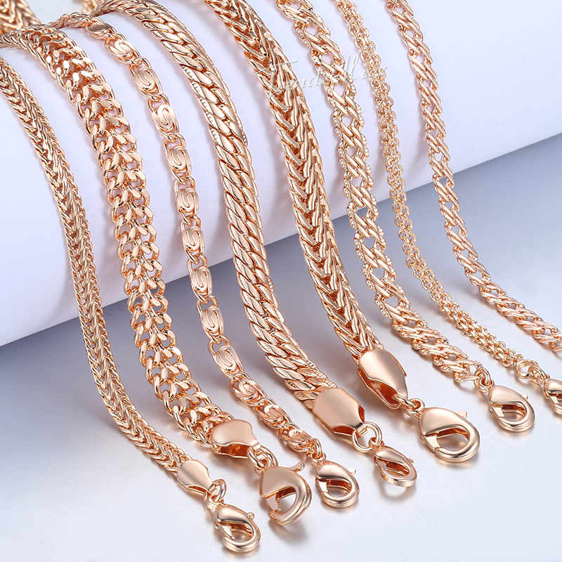 Bracelet Link-Chains Gift Snail Filled Rose-Gold Foxtail Womens Fashion Venitian  title=
