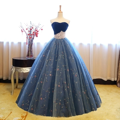 royal blue crown beading 18th century ball gown medieval dress Renaissance  gown queen Victorian dress Antoinette 5b0df616a915