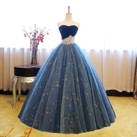Royal Blue Crown Beading 18th Century Ball Gown Medieval Dress Renaissance Gown Queen Victorian Dress Antoinette
