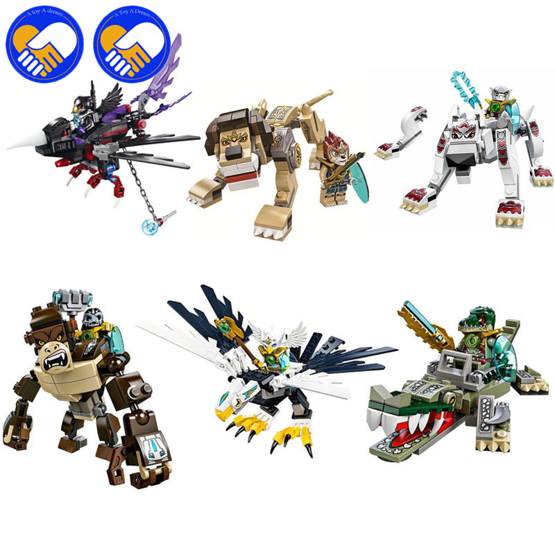 A TOY A DREAM Qigong legendary animal editon 2 CHIMAED Super Heroes Figure Building Blocks Bricks For Children Gift Kids Toys bela 256pcs rogon s rock flinger chimaed building blocks bricks for children gift kids toys legoelieds