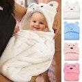 Lovely Baby Bath Towel Cute Baby Hooded Bathrobe Baby Blanket Towels Animal Shape Hooded Towel