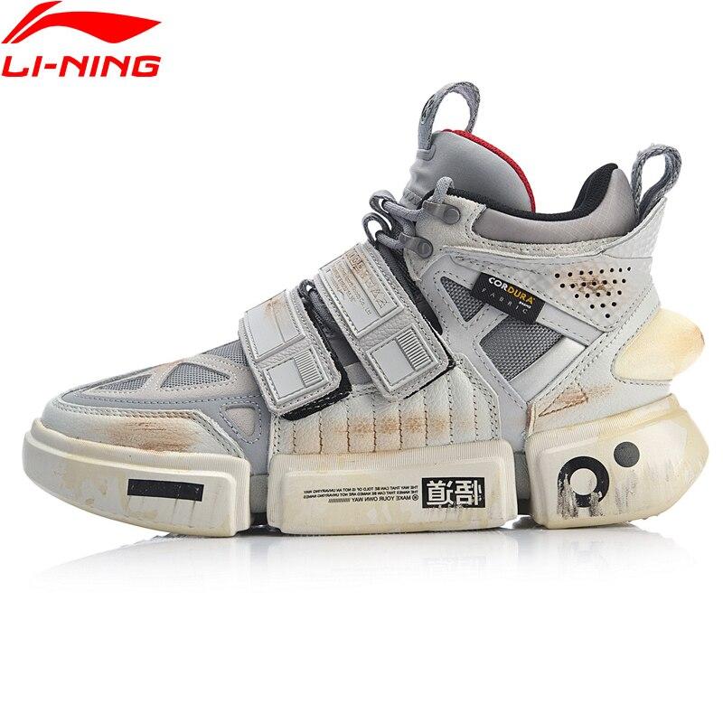 Li-ning FW hommes ESSENCE ACE + Wade chaussures de Culture Durable en cuir véritable doublure chaussures de Sport baskets AGWP027 XYL243