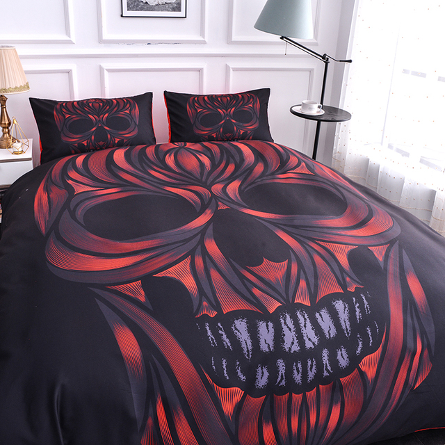 SKULL FACE BEDDING SETS