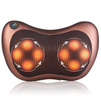 8 Massage Balls Kneading Neck Shoulder Back Massager Pillow Infrared Shiatsu Electric Car Chair Relax Device