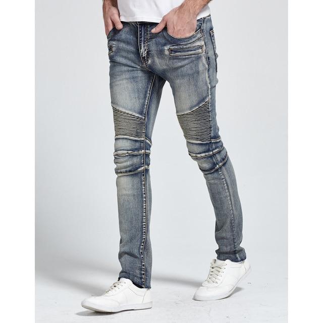 2017 Men Jeans Design Biker Jeans Skinny Strech Casual Jeans For Men Good Quality H1703 3