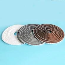 9x23mm 10meters/lot White/Gray/Brown Door Window Draught Excluder Brush Weather Strip Seal Tape 3M Gum Burlete Foam