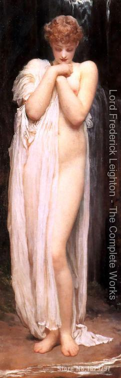 Portrait Painting A Bather by Frederic Leighton Canvas High quality Hand paintedPortrait Painting A Bather by Frederic Leighton Canvas High quality Hand painted