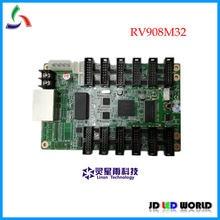 RV908M RV908M32 linsn recebe o cartão de controlador de cor cheia levou parede de vídeo vem com HUB75 portas suporta 1/32 de digitalização