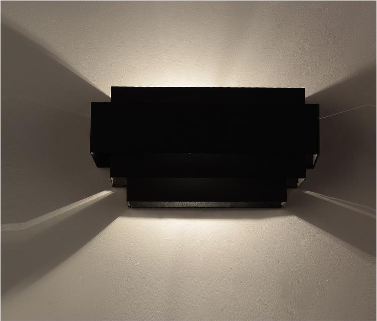 black color lampshade modern iron LED 7w Wall Lamps for livingroom bathroom as Decoration Sconce Light 220V lamparas de pared iron modern led wall lamp fabric lampshade bedside light concise wall sconces fixtures for home lightings lamparas de pared