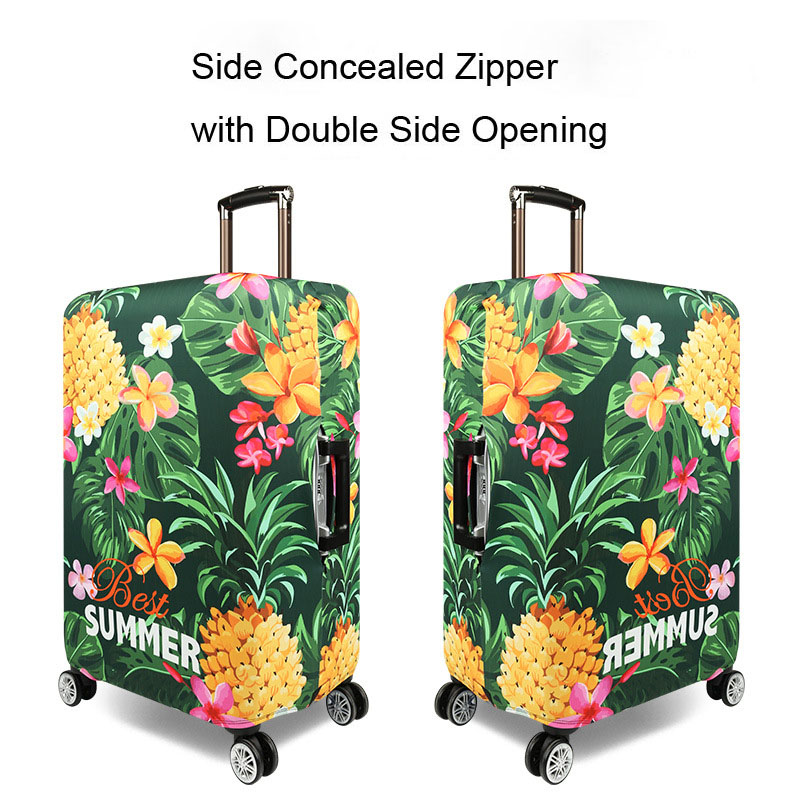 Elastic Travel Flowers&leaves Luggage Cover  Travel Protective Suitcase Cover For 18-32 Inch Travel Accessories