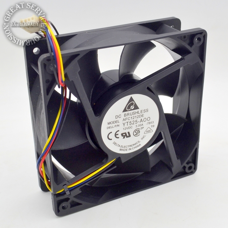 New AFC1212DE 12CM 3A large air volume support PWM 4 wire PWM fan for Delta 120 *120 *38mm original delta 9050 9cm air volume fan 12v 1 56a gfb0912shg double leaf fan