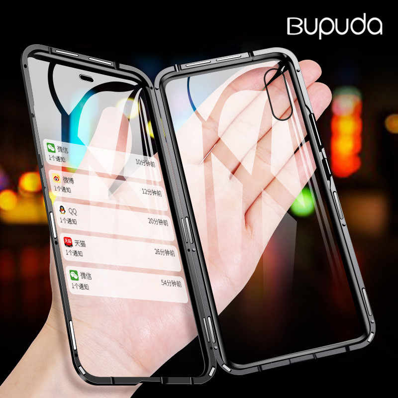 Metall Magnetische Adsorption Fall Für iPhone XS MAX X XR 8 7 6 6s Fall Doppelseitige Glas Magnet fall Abdeckung 6 6s 7 8Plus Fall