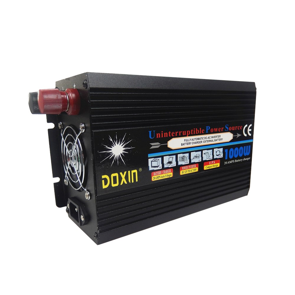 New Arrival UPS 1000w Power Inverter with Charger For Multi Devices DC To AC 12V 220V Car Power Inverter Supply