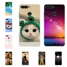 For Huawei Y6 2018 Phone Case Soft TPU Silicone Honor 7A Cover Romantic Patterned ATU-L21 Bumper