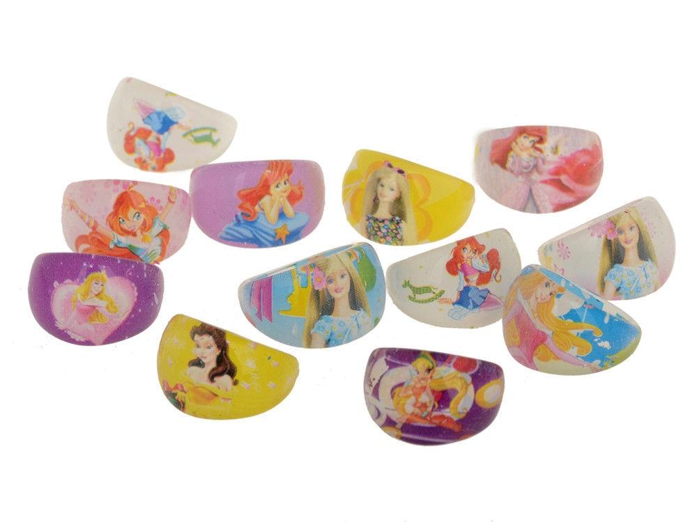 Cute 10 Wholesale Mixed Lots Resin Child Cartoon Friends Rings