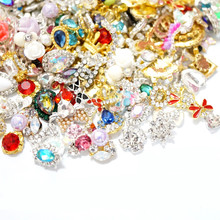 Nail jewelry colorful flame crystal acrylic drill nail accessories diy nail art decoration wholesale