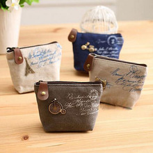 women canvas coin purse cute Vintage Wallets Storage bags monederos Card bags bolsas carteira feminina Coin bag