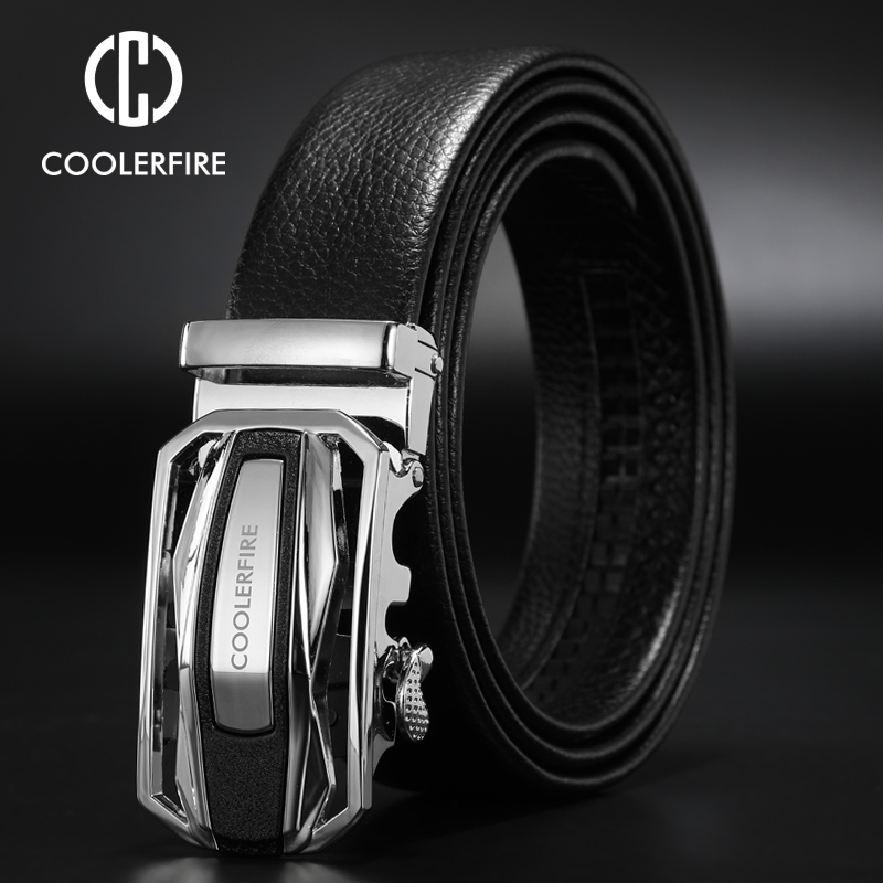 2019 New Luxury Man   Belt   Automatic Buckle Genuine Leather Black   Belts   For Men Designer Male   Belts   strap 3.4mm 1.35