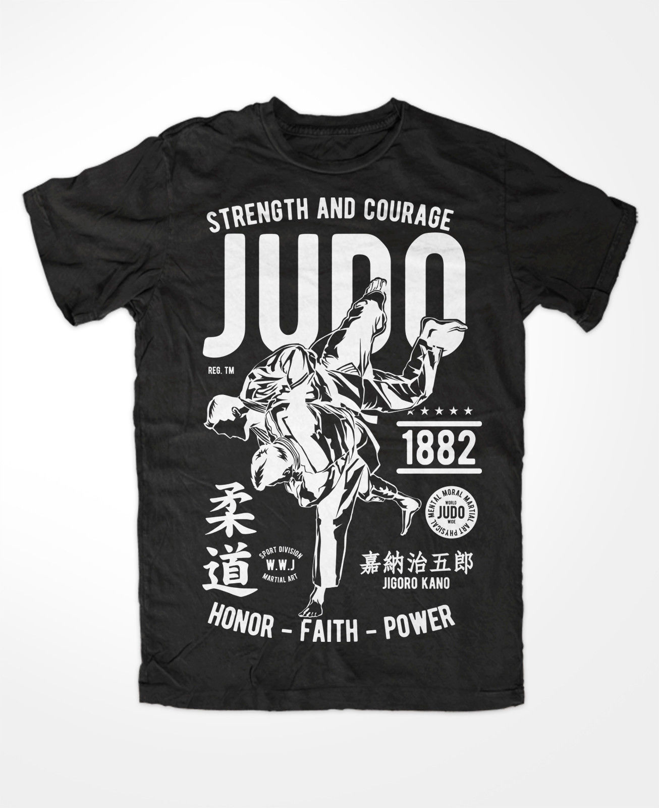 Newest 2018 Summer Short Sleeves Cotton Fashion Judo   T  -  Shirt   Kampfsport Muay Thai Ringen Klassik Funshirt Boxen Judokat   Shirt
