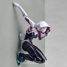 ディズニーマーベルアベンジャーズクモグウェン 16 センチメートルアクションフィギュアアニメミニ人形装飾 PVC コレクション置物玩具モデル