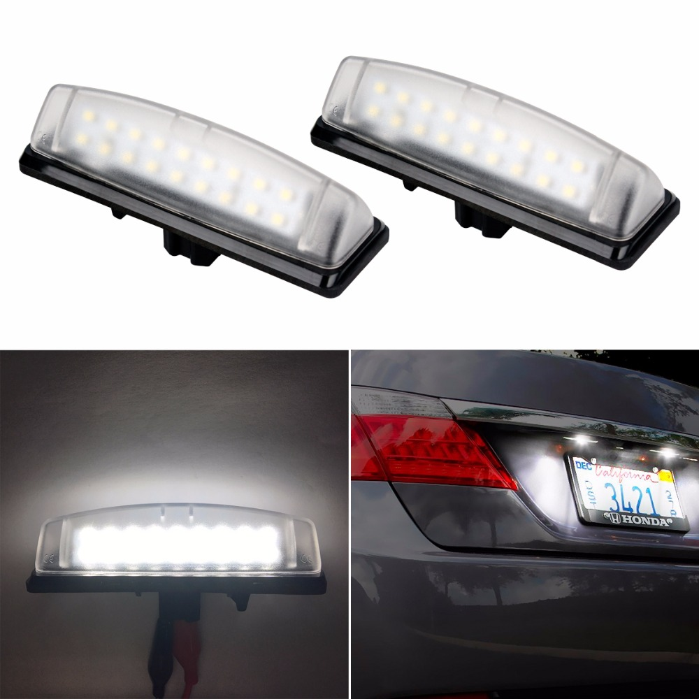 2XCar Accessories 18SMD LED License Plate Light For Toyota Camry Aurion Prius Lexus IS300 LS430 GS430 RX330 ES300 car-styling universal pu leather car seat covers for toyota corolla camry rav4 auris prius yalis avensis suv auto accessories car sticks