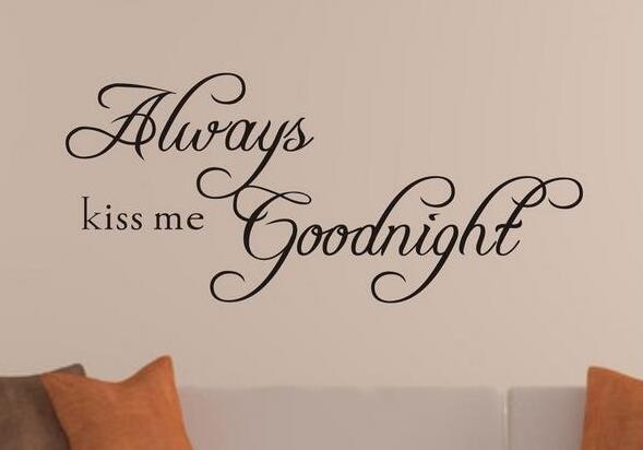 Immer kiss me goodnight quote diy wandaufkleber wohnzimmer vinyl ...