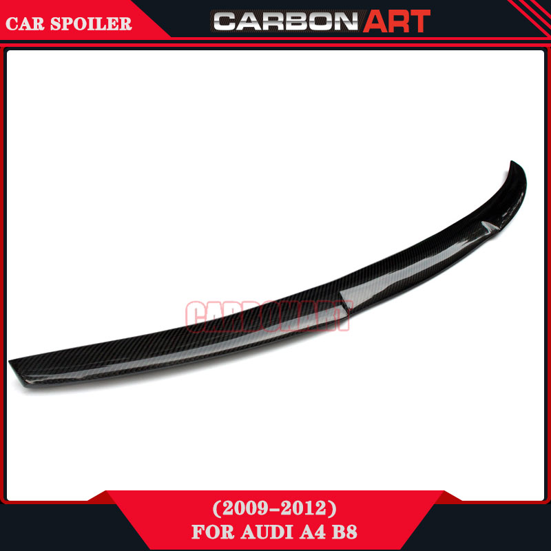high performance car parts carbon design M4 look spoiler wing for audi a4 B8 2009 2010 2011 2012 pu rear wing spoiler for audi 2010 2011 2012 auto car boot lip wing spoiler unpainted grey primer