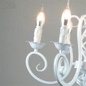 Image 2 - White Nordic Chandelier Wrough Iron lustre lamp For Living Room 220V 110V dining room bedroom Foyer Chandelier Lighting