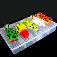 Zestaw WLDSLURE 6 Sztuk/zestaw Fishing Lure Carp Fishing Miękkie Pływające Żaba Przynęty Crankbait Przynęty Top Wody Mysz z Pole Walki