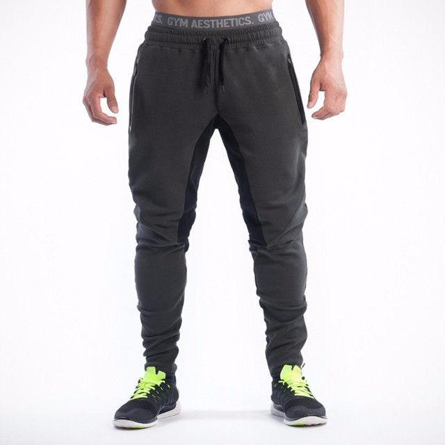 Men joggers Sweatpants 2016 Autumn Brand Design Splicing Mens Pants Men Loose Fashion Casual Pants Men's sweatpants