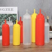 800 мл 320z пластиковая бутылочка для соуса салат выдавливание кастрюля для соуса Шоколадный Соус Бутылка для варенья томатный салат бутылка выдавливаемая бутылка